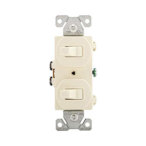 Cooper Wiring Devices 271A-SP-L 15-Amps 120/277-Volt Traditional Heavy Duty Grade Two Single-Pole Switches, Almond