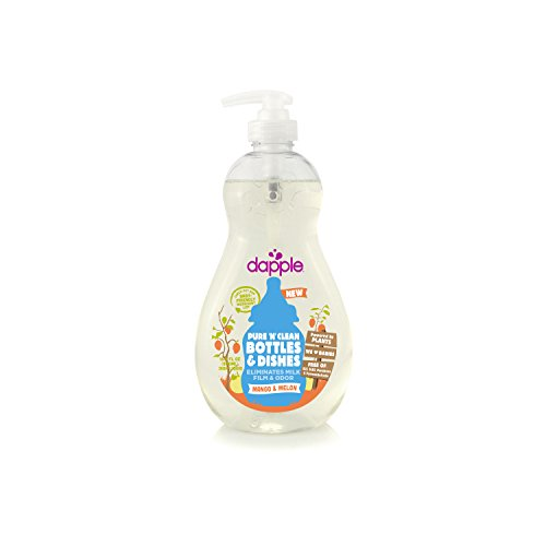 Dapple Pure 'N' Clean Baby Bottle and Dish Liquid, Apricot, Clear, 16.9 Ounce