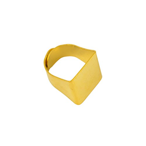 - kesoto 10pcs Brass Adjustable Finger Ring Findings, Pad Ring Bases Perfect for Cabochons - Gold