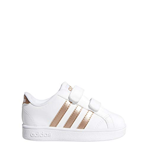 adidas Performance Baby Baseline, White/Copper Metallic/Black, 5K M US Toddler