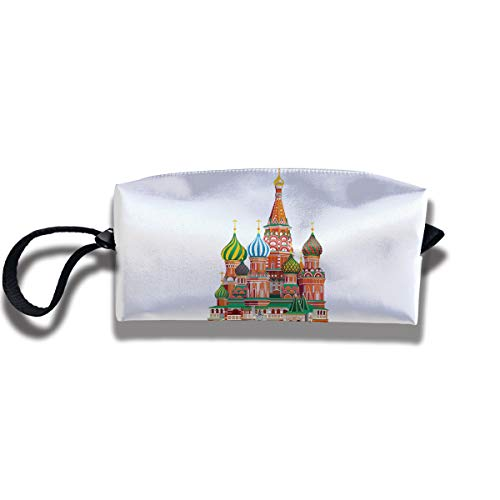 Coin Pouch Russian Architecture Pen Holder Clutch Wristlet Wallets Purse Portable Storage Case Cosmetic Bags ()