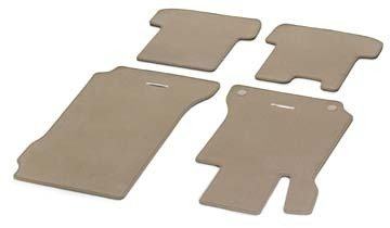 Genuine OEM Mercedes Benz 2008-2013 C-Class Sedan Carpeted Floor Mats (SET OF 4) - CASHMERE BEIGE ()