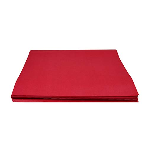 Crown 480 Sheets Bulk Pack Red Tissue Paper Gift Wrap - Ream of Paper - 20 inch. x 30 inch. Wrapping Tissue Paper - for Scrapbooking Paper, Art n Crafts, Wrapping Christmas Gifts and More!!