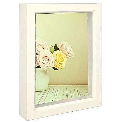 Dennis Daniels Wood Treasure Box Picture Frame, 4 x 6 Inches, Bright White]()