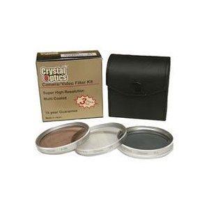 Sakar 28mm 3-Piece Polarizing/UV/F-DL Filter Kit, MetalRim with Leather Case, 15 Year Warranty