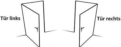 KOTARBAU Einsteckschloss 72//34 PZ mit Kasten Verzinkt Links//Rechts Rohrrahmenschloss T/ürschloss Innen//Au/ßenbereich Sicherheisschloss Links