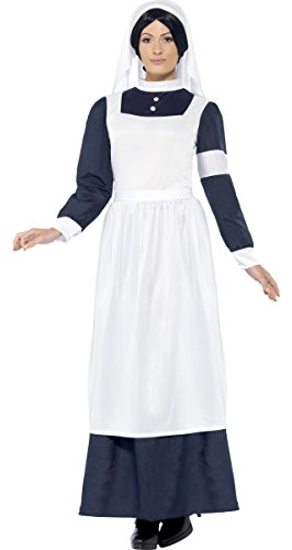 Ladies Wartime Nurse Florence Nightingale Victorian WW1 Fancy Dress Costume Outfit 12-22 Plus Size ... (UK 20-22) ()
