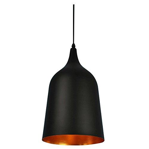 Homestia Northern European Black Bell Shape Pendant Lamp,L