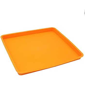 X-Haibei Swiss Roll Cake Mat Flexible Baking Tray Silicone Cookies Mold L10 W11inch H 0.78inch