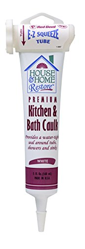 Red Devil 0838 EZ SQUEEZE Kitchen & Bath Caulk, White, 5-Ounce from Red Devil
