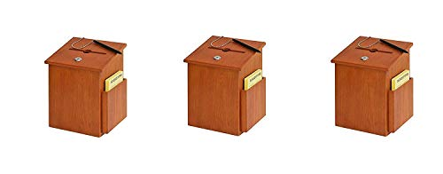 (Buddy Products Wood Suggestion Box, 7.25 x 10 x 7.5 Inches, Medium Oak (Pack of 4) )