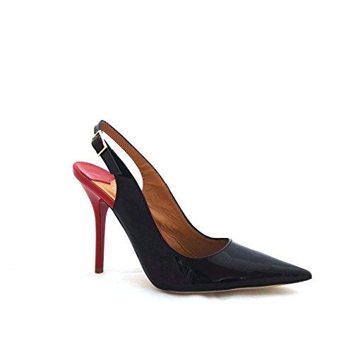 Cafenoir Mb312 010 - Zapatos de vestir de Piel para mujer negro negro