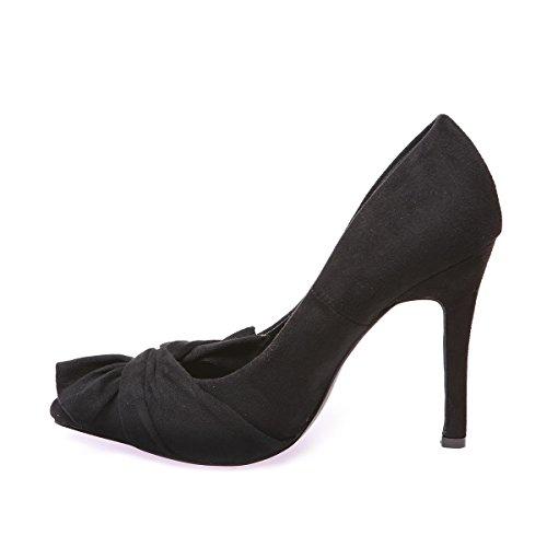 De Sintético Modeuse Zapatos Material Vestir La Negro Mujer Sq1TPUUW