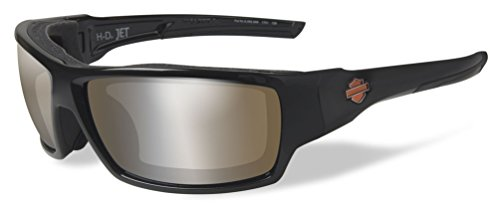 Harley-Davidson Mens Jet PPZ Copper Flash Sunglasses, Gloss Black Frames HDJET09