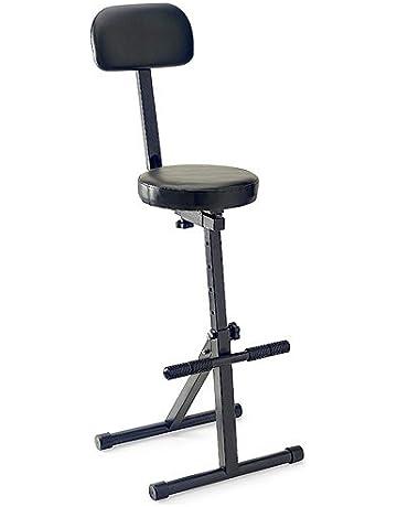 Stagg 25015361 MT-300 BK - Silla alta para músicos con respaldo