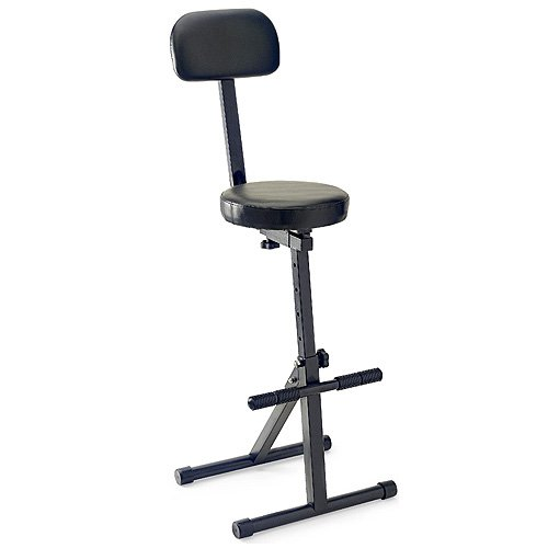 Stagg MT-300 BK MT-300BK Professional Musicians Throne with High Backrest