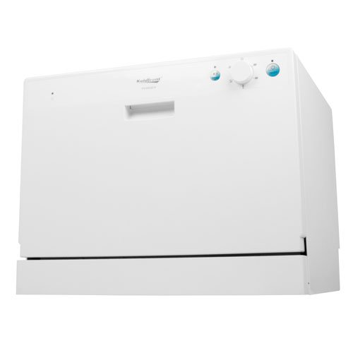 Galleon - Koldfront 6 Place Setting Countertop Dishwasher - White