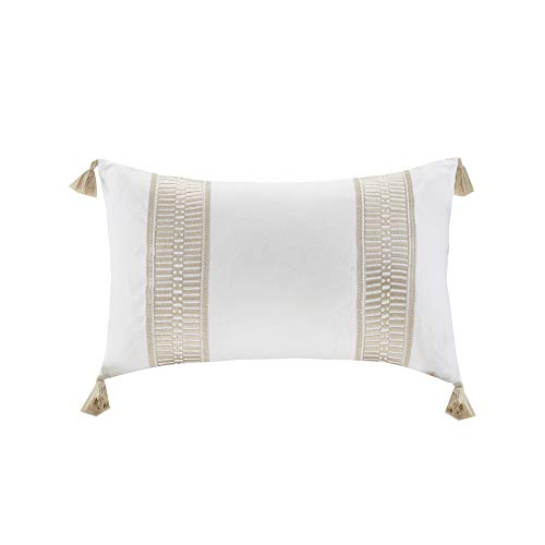 """Harbor House Anslee Decorative Pillow, 12""""x20"""", Tassel Taupe"""