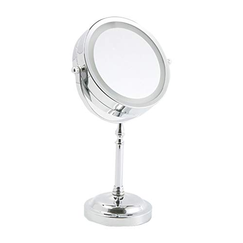 Makeup Mirror with Light, 3X Magnification Illuminated Rotating Double Sided Battery Powered -