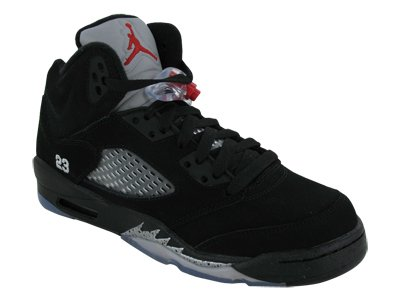 low priced f3e90 a24b1 Nike Air Jordan 5 Retro (GS) Big Kids Basketball Shoes  440888-010  Black Varsity  Red-Metallic Silver Boys Shoes 440888-010-5  Amazon.ca  Shoes   Handbags