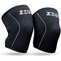 ZEUZ® 2 Stuks Premium Knie Brace voor Fitness, Crossfit & Sporten – Knieband - Braces – 7 mm (Large)