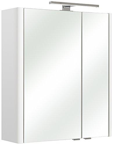 Beliebt PELIPAL 359 Piolo Spiegelschrank Bardi, Holzdekor, Weiß Hochglanz LQ46