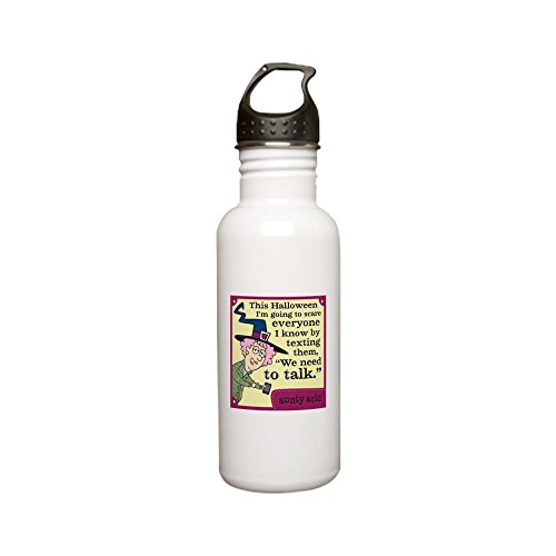 CafePress - Aunty Acid: Halloween Stainless Water Bottle 0 - Stainless Steel Water Bottle, 0.6L Sports Bottle