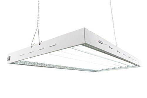 Durolux T5 HO Steel Grow Light   4 FT 12 Lamps   DL8412ST Fluorescent Hydroponic Indoor Fixture   Veg Bulbs
