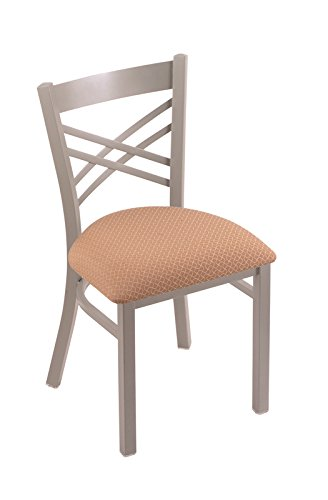 Holland Bar Stool 620 Catalina 18″ Chair with Anodized Nickel Frame Finish and Your Choice of Wood or Upholstered Seat, Axis Summer For Sale