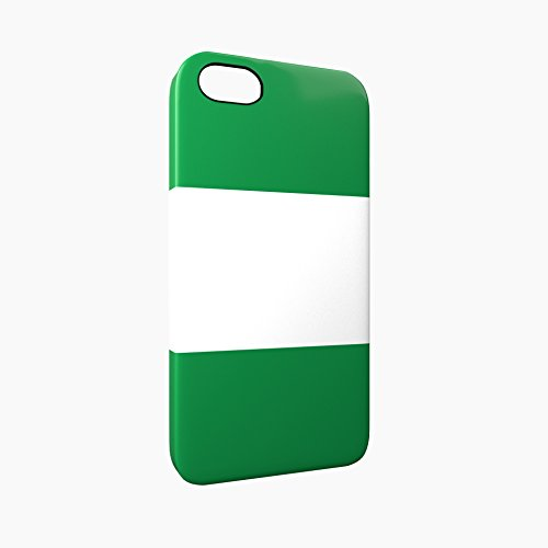 Flag of Nigeria Glossy Hard Snap-On Protective iPhone 5 / 5S / SE Case Cover