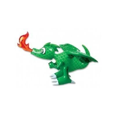Inflatable 30-inch Dragon 3pk - (Green): Toys & Games