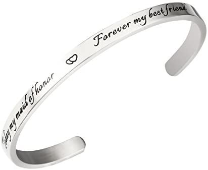 REEBOOO Maid of Honor Bracelet Today My Maid of Honor Forever My Best Friend Matron of Honor Gift
