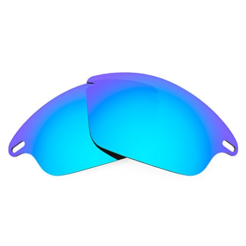 (Revant Polarized Replacement Lenses for Oakley Fast Jacket Ice Blue MirrorShield)