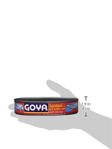 Goya Foods Sardines in Hot Sauce, 15-Ounce (Pack of 24)