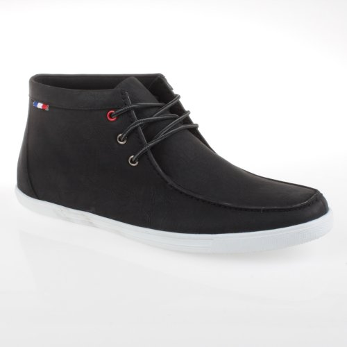 Arider Billy-01 Mens Konstläder High-top Skor Svart