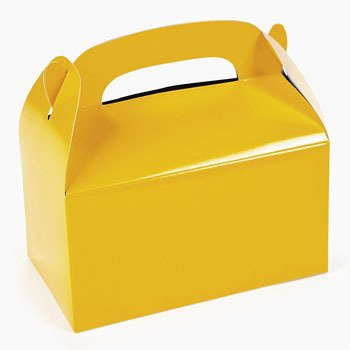 Paper Yellow Treat Boxes,12 count