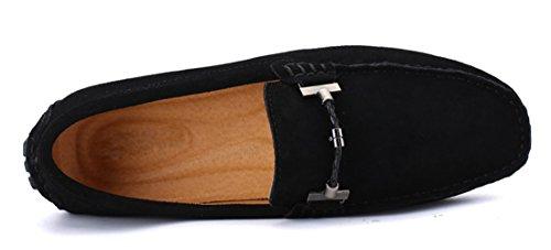 Tda Mens Slip-on Mockasiner Mocka Köra Walking Öre Loafers Båt Skor Svart