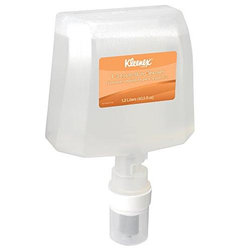 E2 Cream (Kleenex E-2 Antiseptic Foam Skin Cleanser (91595), Unscented Soap, Clear, 1.2 L E-Cassette, 2 Packages /)