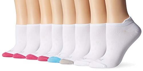 PEDS Women's Microfiber Low Cut Socks with Tab Back, 8 Pairs, Assorted, Shoe Size: 5-10