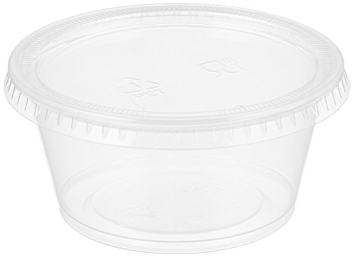 Party World Bpa-free Jello Shot Cups Plastic Containers with Lids, microwaveable, Lids Exact Fit to Cup, 4-oz 50-count