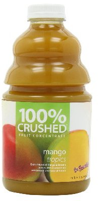 Dr. Smoothie 100% Crushed Fruit Smoothie, Mango Tropics, 46-Ounce Bottles (Pack of 2) by Dr. Smoothie