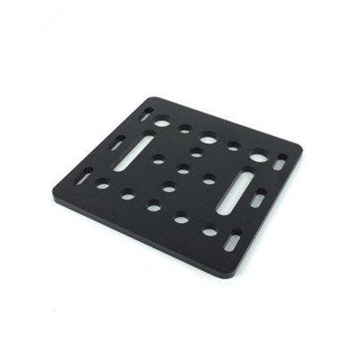 3D Drucker Teil Openbuilds V-Slot Gantry Platte 20mm schwarz Sandstrahlen 65.5mmx65.5mmx3mm 1pcs HANDOO
