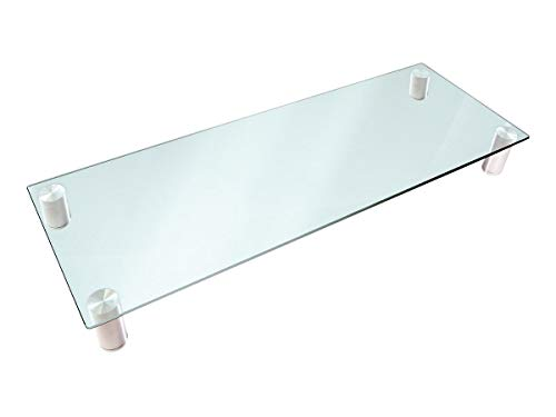 Monoprice Multimedia Riser Desktop Monitor Stand - Clear Glass, Large 30.8 x 11 Inches - Workstream Collection (This Computer Appears To Have A Non Standard)