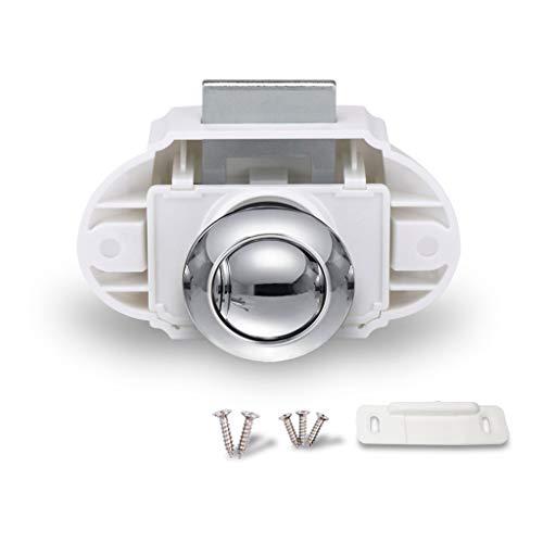 79ef3ab7147b Encell Set of 5 Push Button Catch Cupboard Door Knob Latch Lock RV Camper  Motor Home Caravan