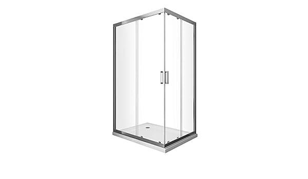 Laneri Box - Ducha angular, deslizante, cristal Easy-Clean, 80 x 90 cm: Amazon.es: Bricolaje y herramientas