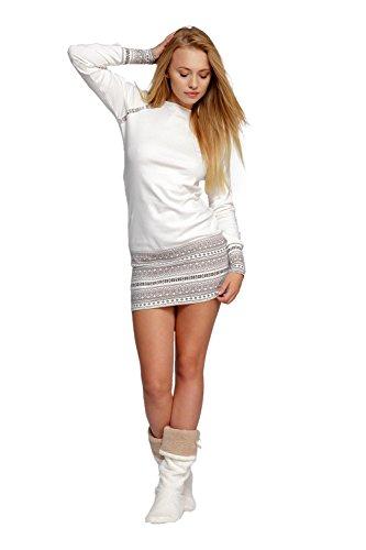 Sensis - Ensemble de pyjama - Femme blanc ecru L