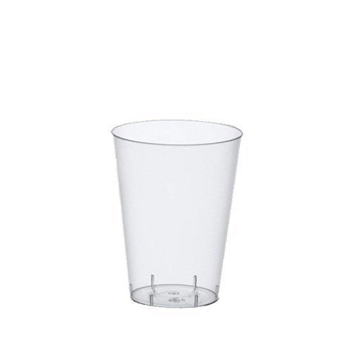 Papstar Trinkbecher / Plastikbecher (50 Stück) 0.2 l, Ø 7.5 x 9.7 cm, glasklar, transparent, aus Polystyrol, für Ausflüge und
