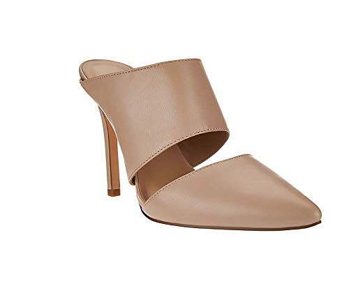 H by Halston Scarlett Leather Slip On Pointed Toe Heel-Sand-12 from H by Halston