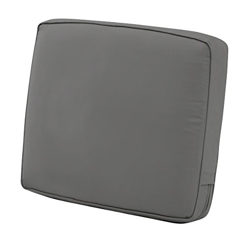 Classic Accessories Montlake Back Cushion Foam & Slip Cover, Light Charcoal, 25x22x4' Thick