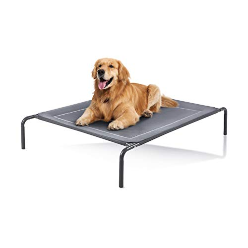 Love's cabin Outdoor Elevated Dog Bed - 49in Cooling Pet Dog Beds for Extra Large Medium Small Dogs - Portable Dog Cot for Camping or Beach, Durable Summer Frame with Breathable Mesh
